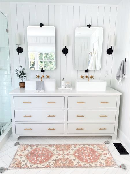 It's finally here!  Our master bathroom reveal!  Can't wait to share it with you ;)     #LTKhome