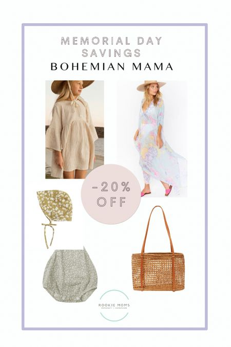 20% off Memorial Day weekend with code: MDW20 at Bohemian Mama    http://liketk.it/3gqh5 #liketkit @liketoknow.it #LTKunder100 #LTKsalealert #LTKbump @liketoknow.it.family Shop your screenshot of this pic with the LIKEtoKNOW.it shopping app