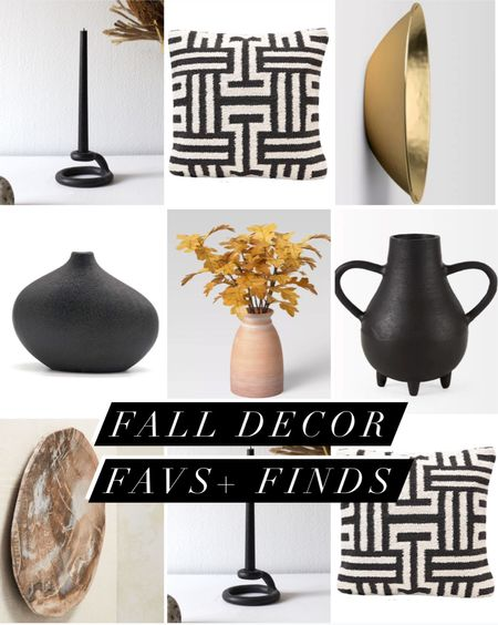 Fall home decor faves + finds | organic  vessels, abstract pillows, dried faux stems, candlestick   #LTKhome #LTKfamily #LTKSeasonal