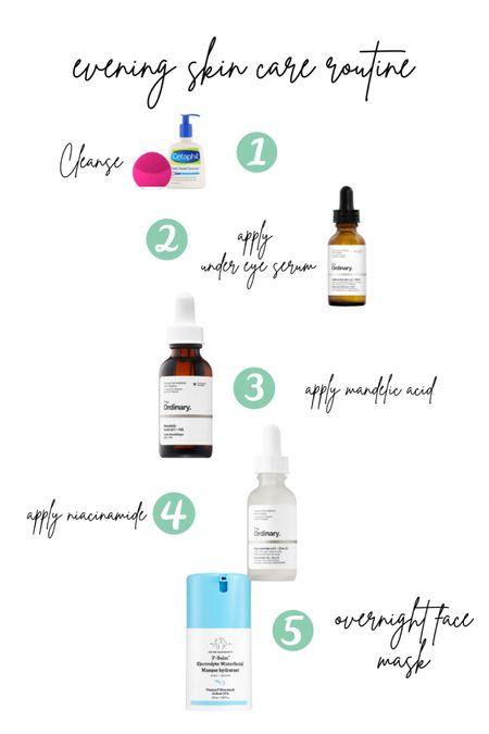 Night time skin care routine! http://liketk.it/3d1Br #liketkit @liketoknow.it #LTKbeauty