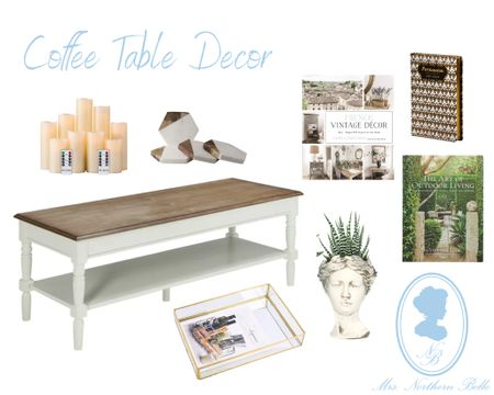 I love nothing more than an eclectically styled coffee table! Sharing some coffee tables & accent decor!   #LTKhome #LTKcurves #LTKunder100
