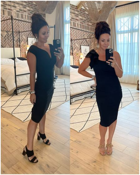 Amazon finds! Tight black dress One shoulder  Great deal! Wearing size small in both    #LTKunder50