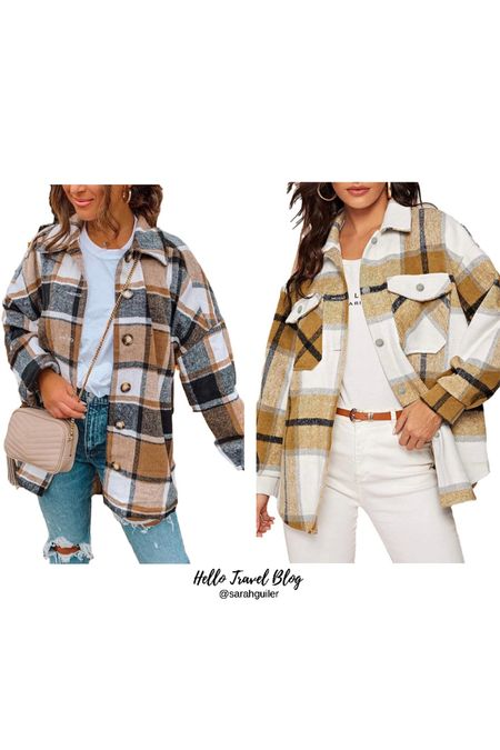 Amazon fashion. Shacket. Fall trends. Fall outfit. Flannel. Amazon finds. Plaid jacket. Fall style.   #LTKSeasonal #LTKbacktoschool #LTKunder100
