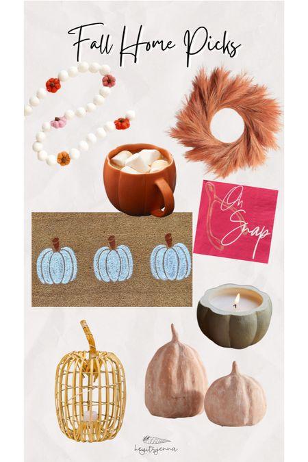 Fall home decor Home interiors Door mat Candle Pumpkin Autumn wreath Thanksgiving decor   #LTKhome #LTKSeasonal