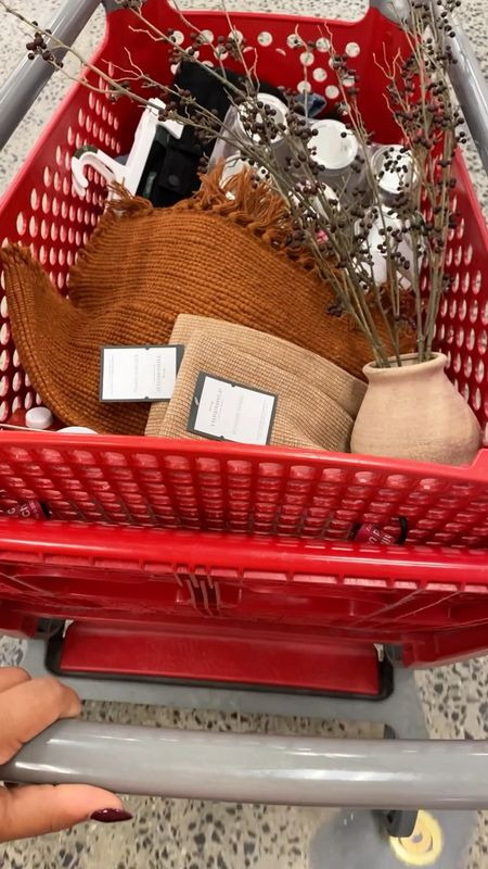 Come shop with me for fall at target! 🎯♥️  Target home decor, fall decor, fall finds, neutral decor, fall home decor, seasonal decor, fall pillows, fall blankets, fall candles, bead garland, woven basket    #LTKunder50 #LTKSeasonal #LTKhome