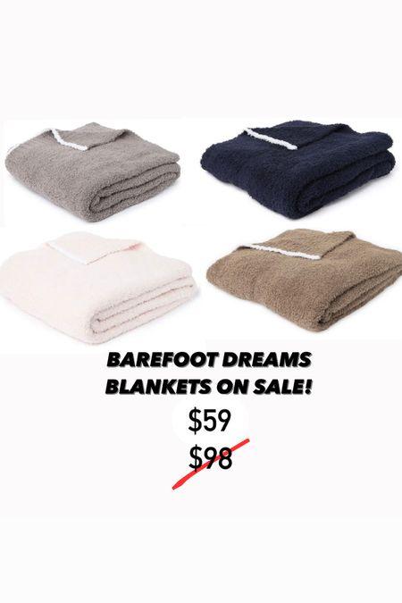 Barefoot dreams blankets on sale for $59!   #LTKunder100 #LTKhome #LTKsalealert