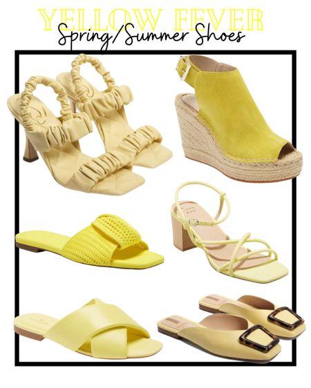 Yellow fever shoes for Spring/Summer #yellow #yellowsandals  @liketoknowit  #LTKSeasonal #LTKstyletip #LTKshoecrush