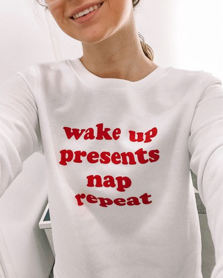 I love the saying on this sweatshirt! So cute for the holidays! Wear it for lounging or add jeans and you're good to run out the door! http://liketk.it/2yzW3 #liketkit @liketoknow.it #LTKsalealert #LTKunder50 #LTKunder100 #LTKstyletip