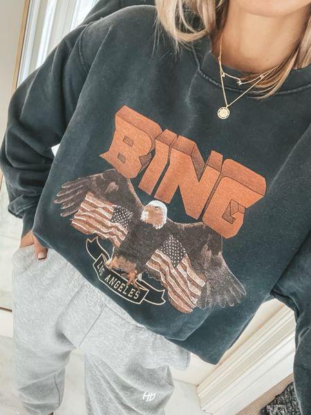 Anine bing sale with code: cella10. Wearing size small in top and bottom  #LTKstyletip #LTKsalealert