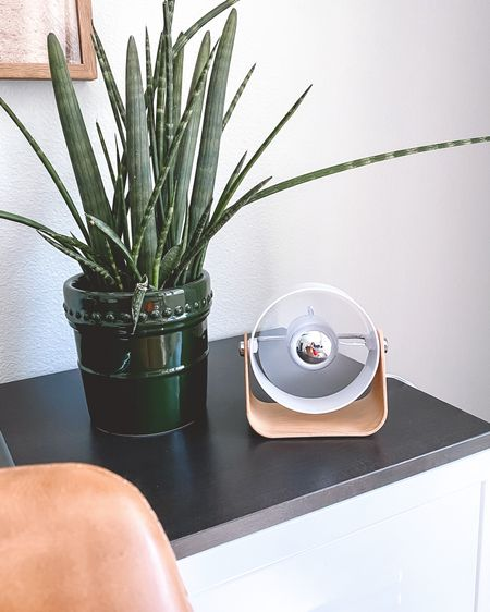 This mini desk fan is such a game changer!! The modern design is perfect for any space, the compact design fits easily on your workspace, it can be plugged into a regular outlet or USB, it has 2 speed settings and best of all...it's only $18!  I can't recommend this enough, whether you are working form home or in an office setting, this mini fan will keep you cool, calm and collected!    http://liketk.it/2P670 #liketkit @liketoknow.it #StayHomeWithLTK #LTKhome #LTKunder50 #homeoffice #officedecor