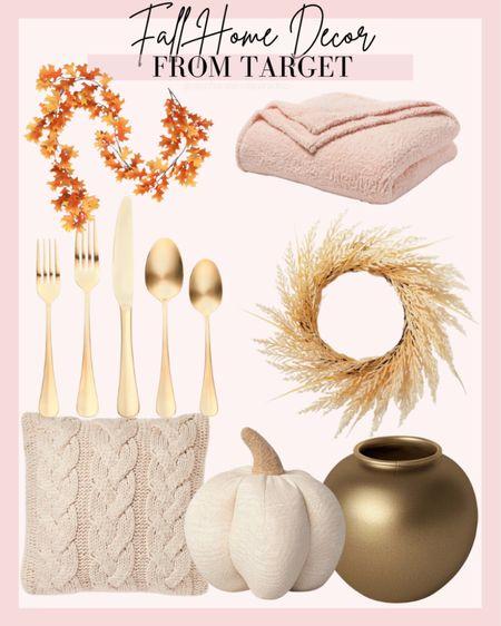 Fall home decor, target home, target style, cozy pillow, cozy Sherpa, pumpkin decor, Halloween decor, cozy home  #LTKunder50 #LTKhome #LTKHoliday
