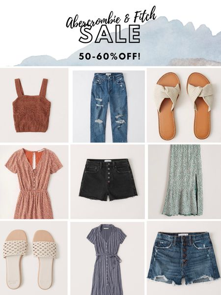 Abercrombie Sale 50-60% Off High-Waisted Jean Shorts, Denim, Jeans, Floral Dresses, Floral Top, Black Denim Shorts, Sandals, Cream Sandals, Floral Maxi Skirt.  http://liketk.it/2Pq2X #liketkit @liketoknow.it #memorialweekendsale #abercrombieandfitch