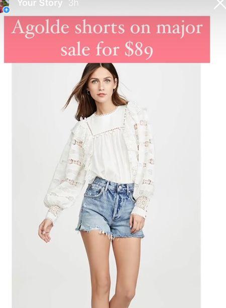 Agolde denim shorts on major sale   #LTKsalealert #LTKunder100 #LTKunder50