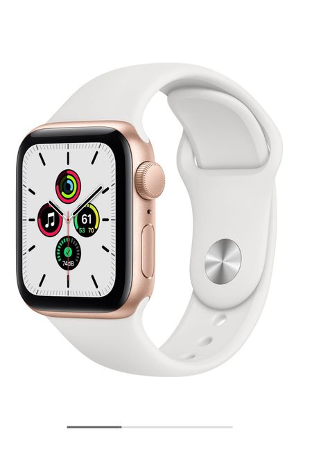 On my wishlist: Apple Series 6E Watch with Gold face & White silicone band! Pair it a chain link to dress up (linked)!   #LTKfit #LTKgiftspo #LTKstyletip