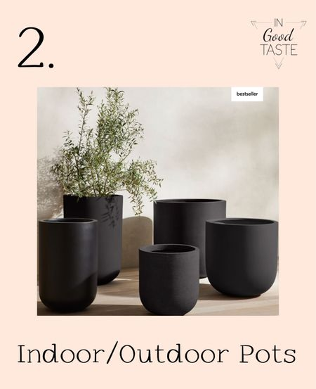 The best indoor/outdoor planters. These minimalist contemporary pots for plants inside or out come in several colors!  #LTKsalealert #LTKhome #LTKunder100
