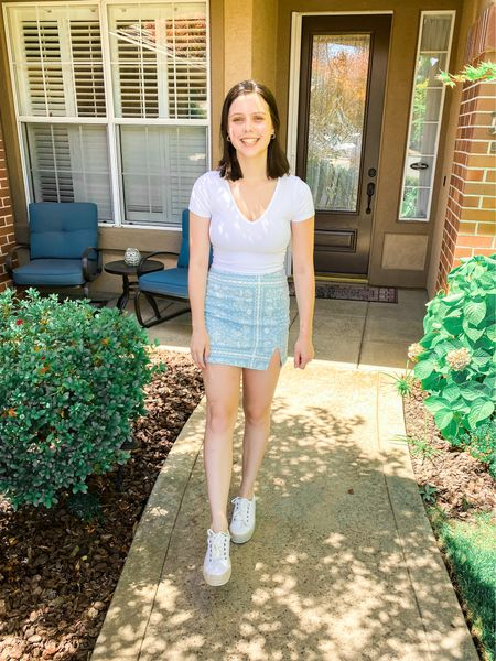 Target outfit from wild fable! All true to size (but go up in the skirt if you have curvier hips)💓 #targetpartner #targetstyle #target #wildfable #summeroutfits #sneakers #summerfashion #skirts   #LTKSeasonal #LTKunder50 #LTKshoecrush