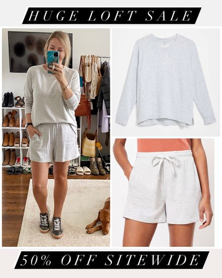 Take 50% off sitewide at LOFT right now with code LOVEU. Their Lou & Grey sweats are some of my absolute faves 🥰   #LTKsalealert #LTKGiftGuide #LTKunder100