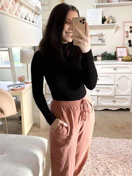 Target style pants + Walmart tee! Great casual option to wear around the house or even to throw on some sneakers w/ for an everyday casual look🙌  #LTKunder50 #LTKstyletip #LTKunder100
