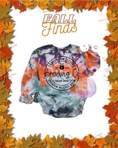 Fall finds Sanderson sisters Tie dye Halloween Fall sweatshirt  #ltkfall #etsy   #LTKstyletip #LTKHoliday #LTKSeasonal