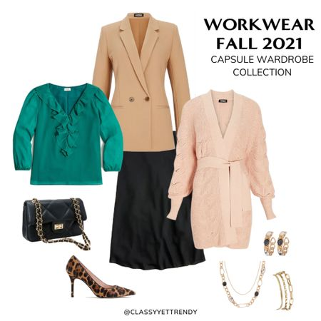 A few pieces from the Workwear Fall 2021 🍁 Capsule Wardrobe Collection! There are 22 clothes and shoes in this capsule and includes 100 outfits, a monthly outfits calendar (so you always know what to wear), convenient shopping links, a travel/mini capsule wardrobe and more. Get yours today in the Capsule Wardrobe eBook Store at https://classyyettrendy.com/ebook-shop!  To shop this post 👉🏼 click the link in my profile for direct links to the items in this photo— or download the@shop.ltkapp and follow me (classyyettrendy) to easily shop my daily looks!#liketkit  #capsulewardrobe #ltkworkwear#workwear#workwearstyle#workwearinspo#ltkstyletip#ltkunder100#officeoutfits#workwearinspiration#workingwomenstyle#professionalstyle#workfromhome#officechic#9to5style#workwearinspiration#workwearwomen#officeoutfit#fallworkwear#chicstyle#parisianworkwear#ootd#ootdblogger#fallworkwear#thisisann#workpants#professionalstyle   #LTKunder50 #LTKunder100 #LTKstyletip