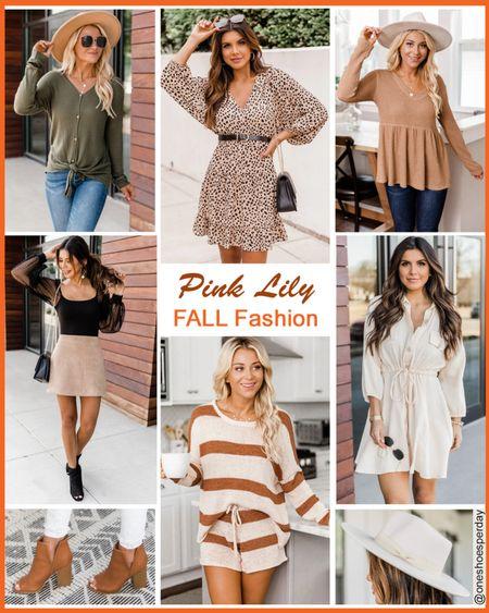 Pink Lily Fall Fashion       http://liketk.it/3l9gV @liketoknow.it #liketkit #LTKDay #LTKsalealert #LTKunder50 #LTKtravel #LTKworkwear #LTKshoecrush #LTKunder100 #LTKitbag #falloutfits #booties #fedora #boots #cardigans #sweatshirts #falltrends #casual #workwear
