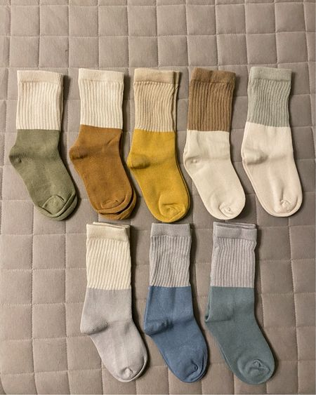 The cutest neutrals for the boys. I don't know why I think kid socks are so cute! 🤣🤷🏻♀️ 8 pairs for $14 I'll take it! They also come in another set of colors. Can't wait to style the boys in these with their white sneaks. 😍 http://liketk.it/3bXDo #liketkit @liketoknow.it