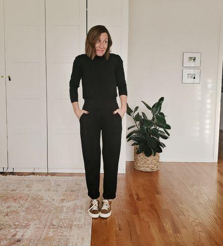 Pants @lezethelabel, similar turtleneck and this year's version of shoes linked.   #StayHomeWithLTK #LTKshoecrush #LTKunder100