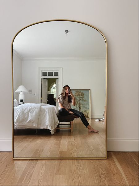 Bedroom arch mirror vibes  #LTKhome #LTKstyletip