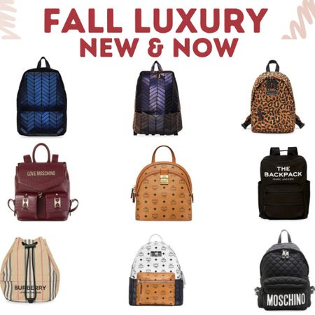 Luxury Fall Backpacks!  MCM, Burberry, Marc Jacobs, and more.   #LTKitbag #LTKsalealert
