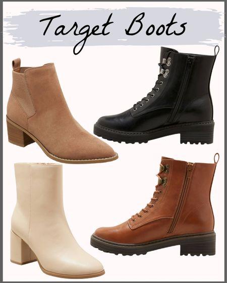 Target Boots and booties! 🍁  Combat boots Booties Target style  #LTKshoecrush #LTKunder50 #LTKsalealert