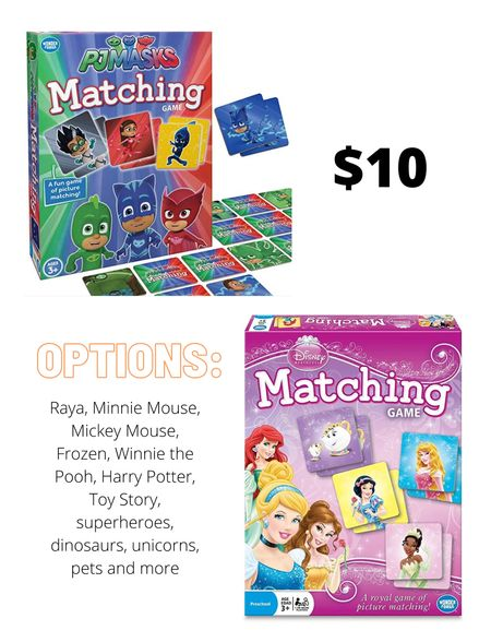 Matching card games in a ton of options    #LTKkids #LTKGiftGuide #LTKHoliday