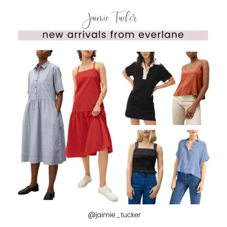 Everlane has some amazing new pieces that just dropped for the summer season. Check them out here! | #peplumtop #summertop #summeroutfits #vacationdresses #vacationoutfits #datenightoutfits #bestsellers #JaimieTucker  #LTKSeasonal #LTKstyletip #LTKtravel