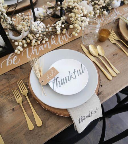 H O L I D A Y \ #thanksgiving place setting✨🍂🦃  #thanksgivingdecor #thanksgivingtable  #LTKHoliday #LTKSeasonal #LTKhome