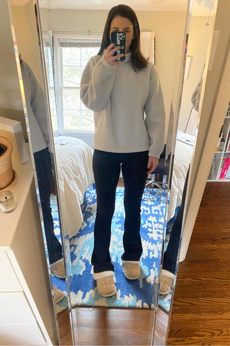 A very comfy work from home outfit. This gap fleece top is currently on sale and the funnel neck makes it look much more expensive than it is. I ordered it in a medium! @liketoknow.it #liketkit #LTKunder50 #LTKunder100 http://liketk.it/35Glv