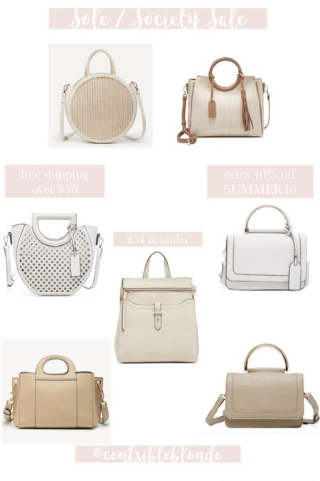Sole society bags $34 and under with code SUMMER40, free shipping on orders over $50  http://liketk.it/2TcDT #liketkit @liketoknow.it #LTKsalealert #LTKitbag #LTKunder50