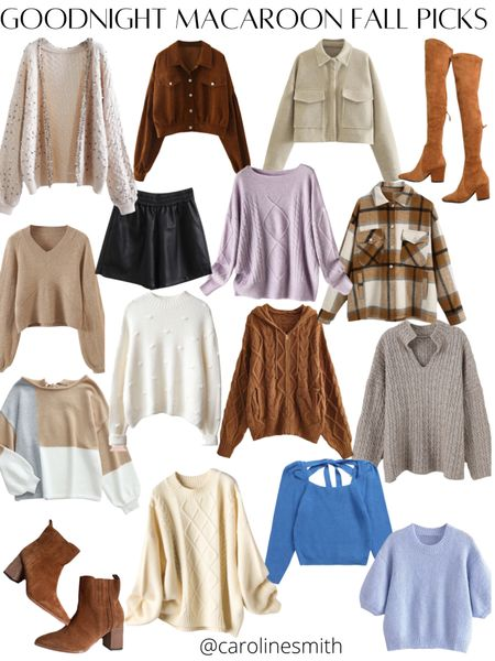 Goodnight Macaroon Fall Picks! 30% off site wide with code PREFALL2021 Shacket OTK Boots Sweater  #goodnightmacaroon #gmlove #otkboots #sweater #sweaterweather #booties #fallstyle #fall   #LTKunder100 #LTKSeasonal #LTKsalealert