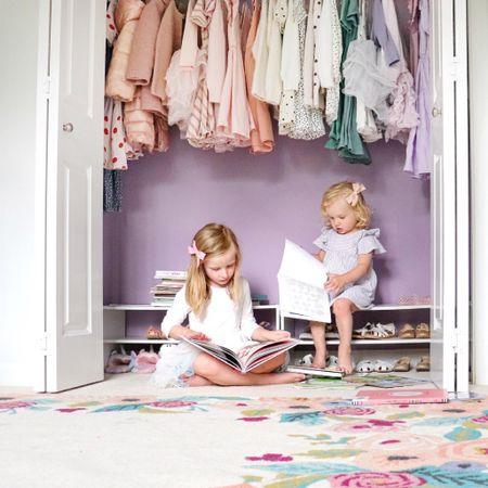 DIY Purple wall closet   #LTKhome #LTKfamily #LTKkids