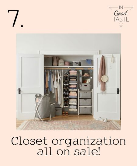 Back to school is a perfect time to GET ORGANIZED! Organize your closets with these super affordable additions.   #LTKhome #LTKsalealert