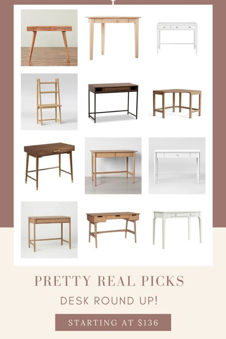 Kid desks, small desks, rattan desk, cane desk, wfh, office, wood desk, white desk   #LTKhome #LTKworkwear #LTKkids