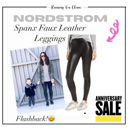 Nordstrom sale spanx faux leather leggings on sale  Go up a size if in between    #LTKunder100 #LTKsalealert #LTKstyletip