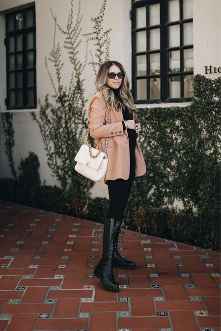 Fall outfit with lace up boots #fallootd  #LTKSeasonal