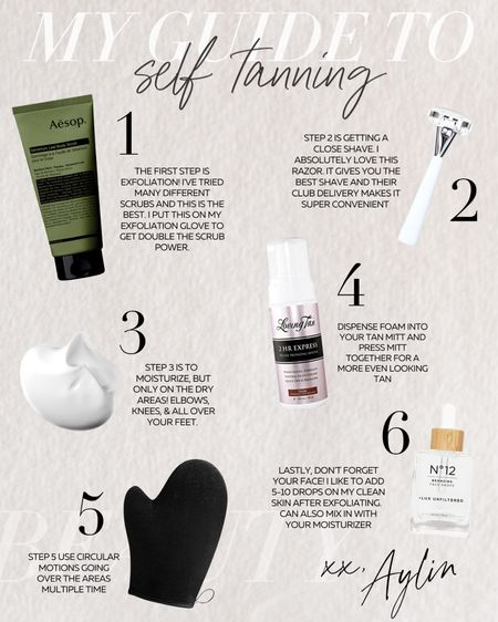 My Self Tanning Guide, self tanner, summer glow #StylinbyAylin  #LTKbeauty #LTKstyletip