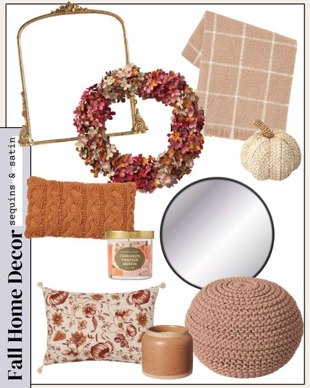 Target home decor for fall! Most come in more color and size options too! #targethome #falldecor #targetfalldecor #targetdecor #target #fall    #LTKhome #LTKunder100 #LTKunder50