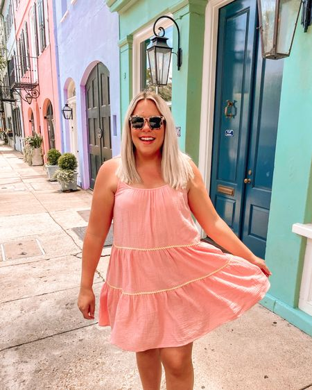 This Summer dress is such a great Walmart find! I packed it for Charleston, it was so light and airy 👍🏻 #liketkit #LTKstyletip #LTKunder50 $32 and comes in a few different colors. Walmart fashion, Beach vacation outfits, Summer outfits, Wedding guest dresses, Travel, Walmart finds, baby shower dress #LTKtravel @liketoknow.it http://liketk.it/3hxHl