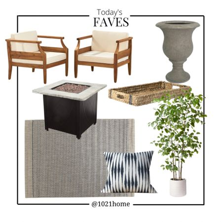 Patio, outdoor chair, outdoor rug, fire table, artificial tree, planter, tray   http://liketk.it/3fqF1 #liketkit @liketoknow.it #LTKhome #LTKsalealert #LTKstyletip @liketoknow.it.home