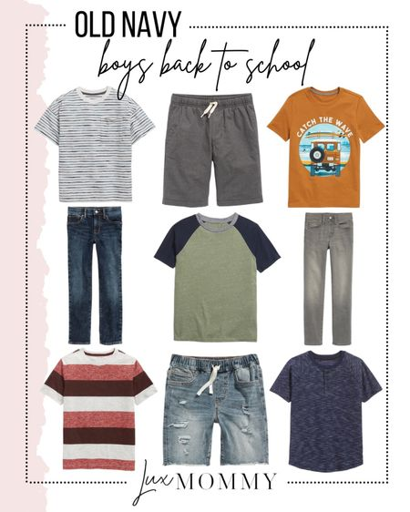 It's almost time for the kiddos to go back to school. Here are my Old Navy boy back to school finds!   #LTKkids #LTKstyletip #LTKunder50