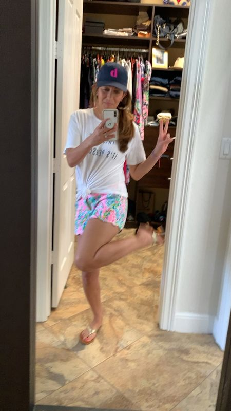 Loving all the colors on these Lilly Pulitzer shorts! Perfect & breathable just in time for spring! Paired perfectly with my favorite Tory Burch sandals in gold! 🌺💐 #lillyinfluencer #springshorts #lillypulitzer   #LTKbeauty #LTKfamily #LTKshoecrush