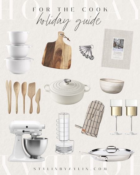 Holiday gift guide for the cook, cooking accessories, gift ideas, cooking essentials, #StylinByAylin   #LTKGiftGuide #LTKHoliday #LTKhome