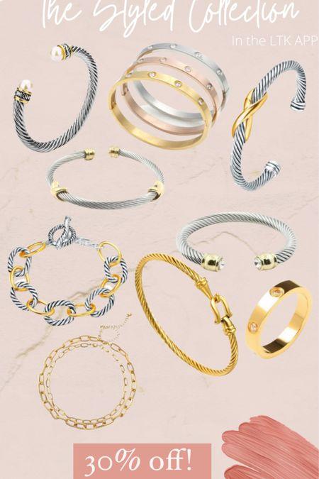 The styled collection 30% off Designer inspired jewelry  Designer dupes  #LTKDay #LTKstyletip #LTKsalealert http://liketk.it/3h4o0 #liketkit @liketoknow.it