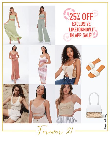 Forever 21 summer picks   25% off ends today! 💥  #LTKunder50 #LTKsalealert
